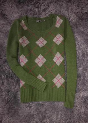 Красивый шерстяной свитерок) не колется.бренд montego