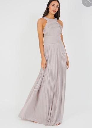 Платье плиссе макси, вечернее,  для выпускного. на высокий рост.