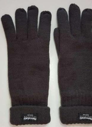Перчатки, thinsulate, утеплены, s. новые!