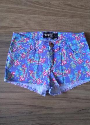 Шортики с попугаями yes yes jeans 8 рр
