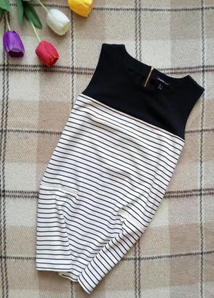 Платье в полоску mango basic