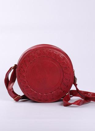 Красивая вместительная сумочка  через плечо, бордовая
