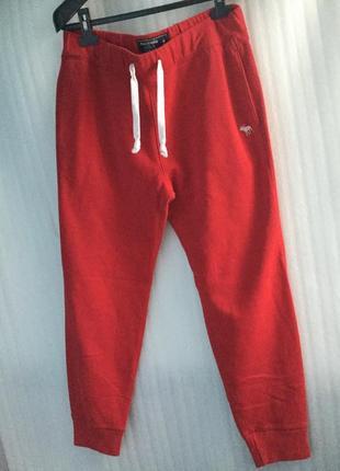 Теплые спортивные штаны унисекс abercrombie&fitch