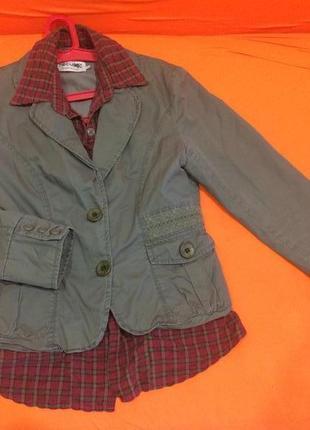 Пиджак с имитацией рубашки, жакет с имитацией рубашки