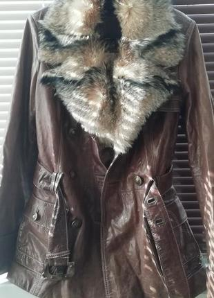 Куртка натуральная кожа + натуральный мех