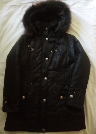 Зимняя куртка mishele 54-56 натуральный мех