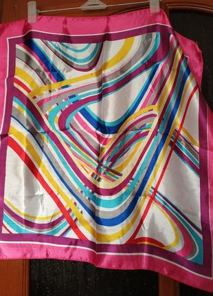 Красочный платок шарф на шею