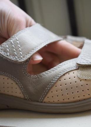 Кожаные босоножки сандали медикус medicus р.6 1/2 р.40 26 см на широкую
