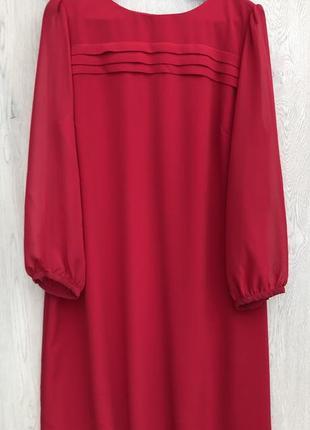 Шикарное платье футляр,красного цвета большого размера