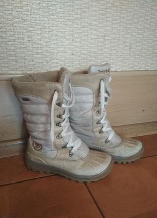 Зимние сапоги timberland mount holly tall duke white duck boot