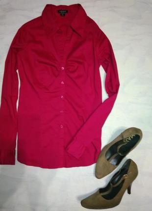 Рубашка цвет спелой ягоды