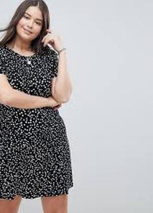 Брендовое платье в горошки от asos