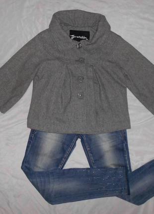 New look курточка жакет накидка на девочку, полушерсть, рост 150-158 см