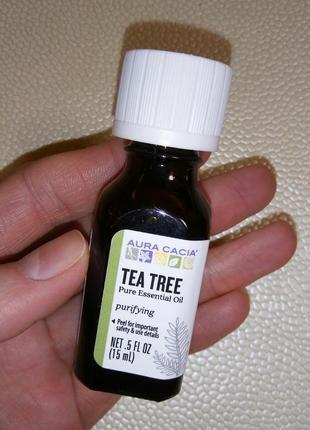 Aura cacia, эфирное масло чайного дерева 15 мл