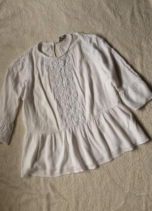 Красивая белая кофта-блуза f&f  xxl