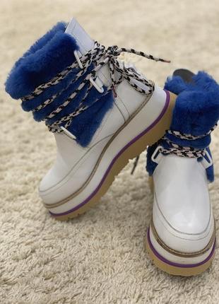 Итальянские ботинки угги сапожки fellini 37 полностью натуральные