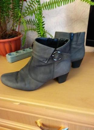 Серые ботиночки из нубука от gabor , 26 см
