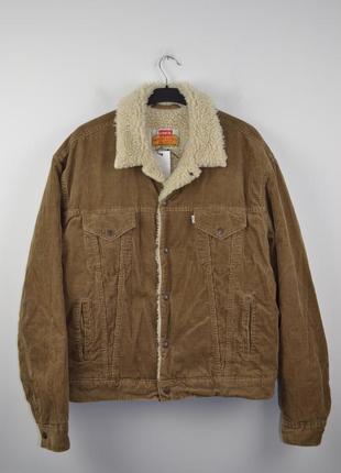 Вельветовая куртка шерпа levi's