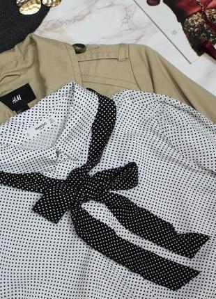 Обнова! рубашка блуза в горох с бантом галстуком с рюшами mango2