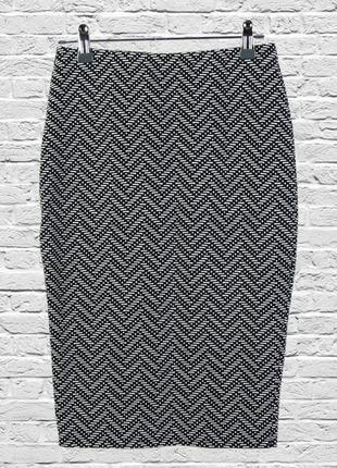 Приталенная юбка карандаш миди, серая юбка миди