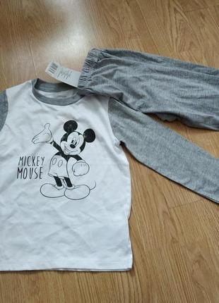 Пижама disney с микки на мальчика 1-2 года. замеры