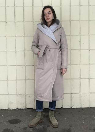Зимнее дизайнерское пальто