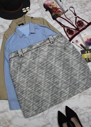 Обнова! юбка футляр принт геометрия плотная tu качество