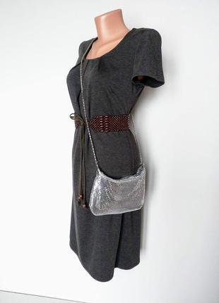 Редкая сумочка, кольчужка с клапаном. под серебро.