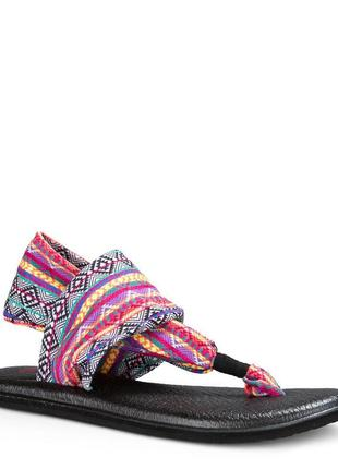 Вєтнамки sanuk women's yoga sling 2 - magenta/multi tribal stripe sws10535