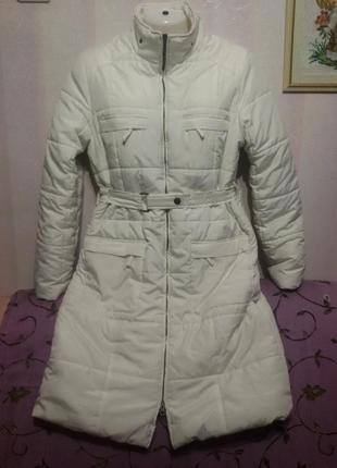 Теплое зимнее пальто на синтепоне (пог-54 см)