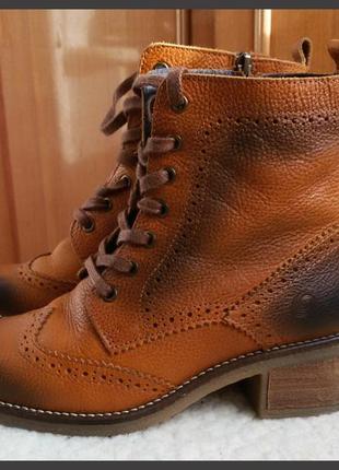 Кожаные ботинки jana shoes 100% кожа