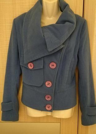 100% кашемир!!пальто укороченное,короткое осень весна косуха от modern classic