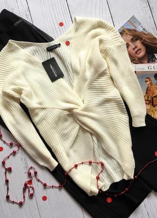 Новая кофта с узлом, свитер prettylittlething