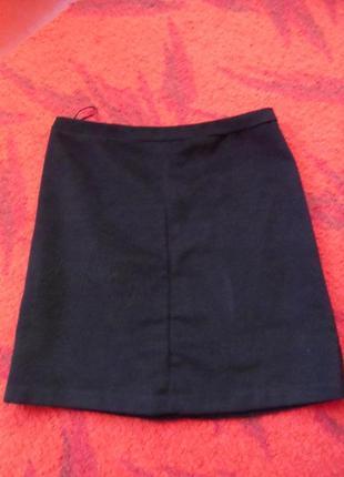 Теплая шерстяная юбка р.50