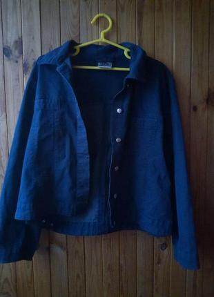 Джинсовая куртка джинсовка оверсайз