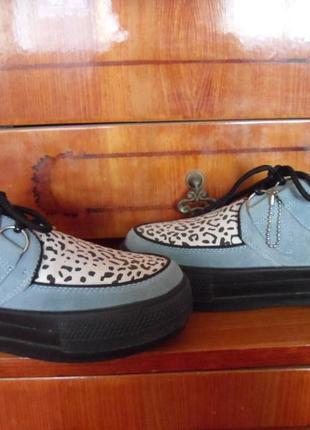 Слипоны-туфли из натуральной замши р.38,5-39