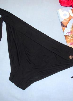 Низ от купальника раздельного трусики женские плавки размер 50 / 16 черные на завязках