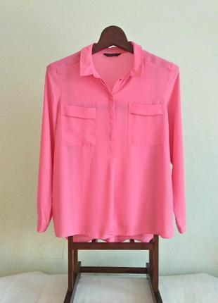 Красивейшая нежно-розовая блуза с длинными рукавами 20