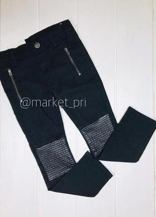 Штаны h&m с  кожаными вставками для девочки h&m
