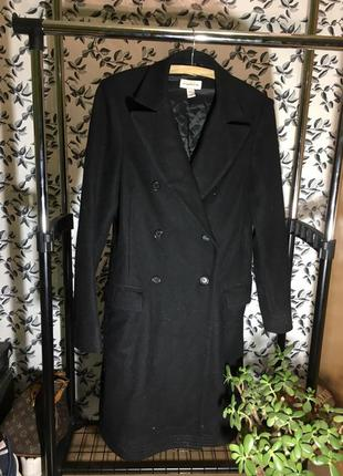 Karl lagerfeld x h&m классическое шерстяное  пальто ,двубортное