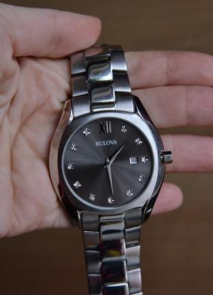 Скидка на бриллианты! мужские часы bulova с 11 бриллиантами. оригинал!
