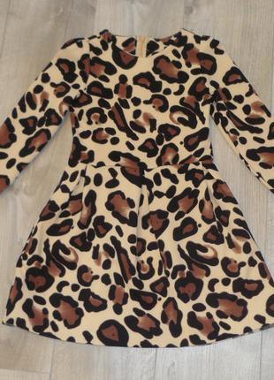 Шикарное леопардовое платье