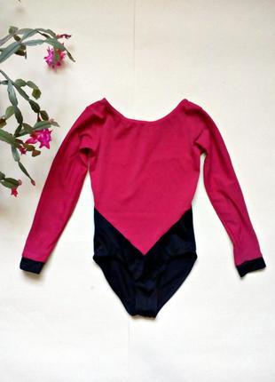 Гимнастический купальник , детский купальник для танцев 6-8 лет