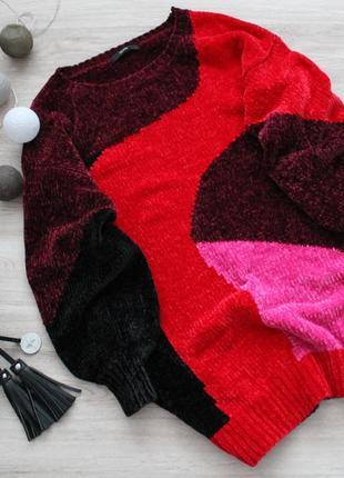 Идеальный бархатный свитер  и широкими рукавами от george (велюровый)