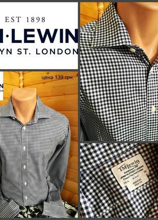 Рубашка от t.m.lewin, оригинал, люкс бренд, пр-во англия, р.м