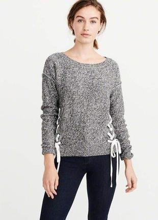 Женская стильная серая кофта abercrombie & fitch