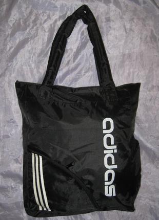Новая спортивная сумка, плащевка, боковые карманы, трапеция,  на плечо