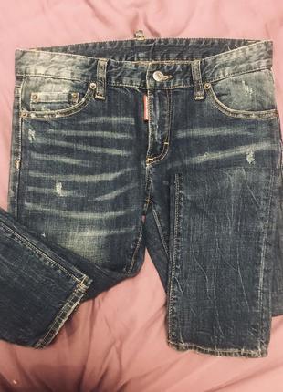 Крутые оригинальные джинсы dsquared 26 р.