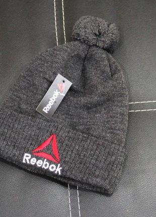 Зимняя теплая шапка серая
