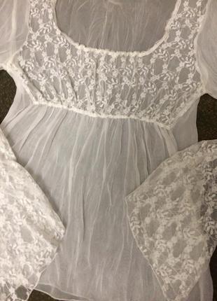 Блузка в бельевом стиле made in france